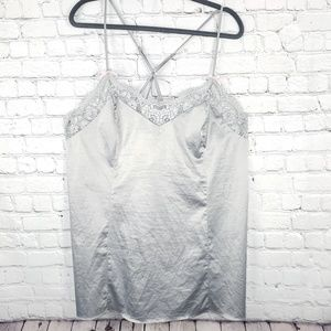 Cacique silver/grey silky feel camisole size 14/16
